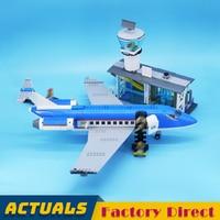 Airport Passenger Terminal 02043 City Building Blocks Vacation Airplane Model Brick Educational Toy LegoINGlys 60104
