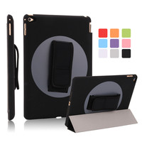 High Quality 360 Degree Rotating Stand Leather Case Smart Cover For IPad Air 2 Case With