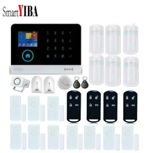 SmartYIBA House Wireless Home Security APP Remote Smoke Sensor Glass Break Door Alarm For APP control WIFI GSM Alarm System