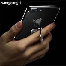 все цены на Wnagcagli Universal Rotation ring mobile phone holder 360 degree handle metal ring bracket mobile phone holder онлайн