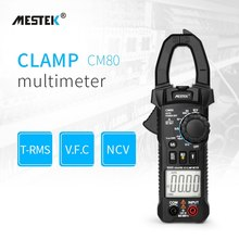 MESTEK CM80 Digital Clamp Meter True RMS LCD Multimeter Voltage Current Capacitance Continuity Test Frequency Tester newest mastech ms8239d digital automotive multimeter and engine analyzer dwell angle speed 4cyl 8cyl continuity test