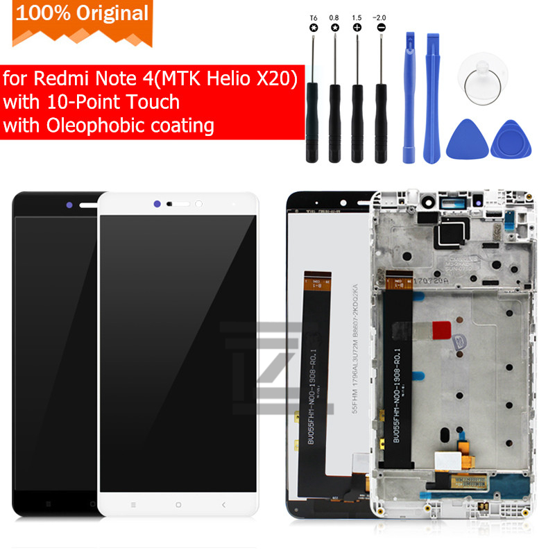 Original for Xiaomi Redmi Note 4X 4GB MTK LCD Display Touch Screen Glass Panel Frame Digitizer Assembly Repair Spare Parts