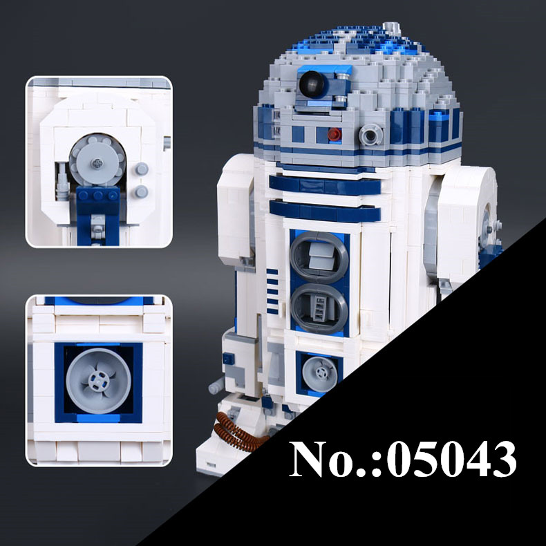 NEW 05043 Star 2127 PCS Series Wars Genuine The R2- Robot Set Out of print D2 Building Blocks Bricks lepin Toys 10225 riggs r library of souls