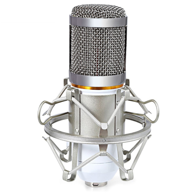 Высокое Качество Профессиональный Конденсаторный Микрофон Караоке Звук Микрофона с Металлическим Подвесом Комплект для Записи