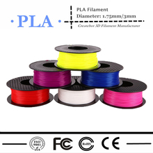 Createbot/MakerBot/RepRap/UP/Mendel 17 colors 3d printer filament PLA 1.75mm/3mm 1kg 2.2lb plastic Rubber Consumables Material