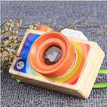 Wooden Simulation Camera Toys Model Baby Kids Room Magic Photo