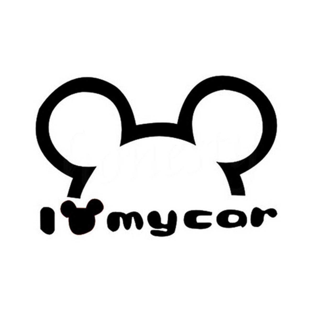 Cute 3D Mickey Car Styling Stickers Funny Car Stickers