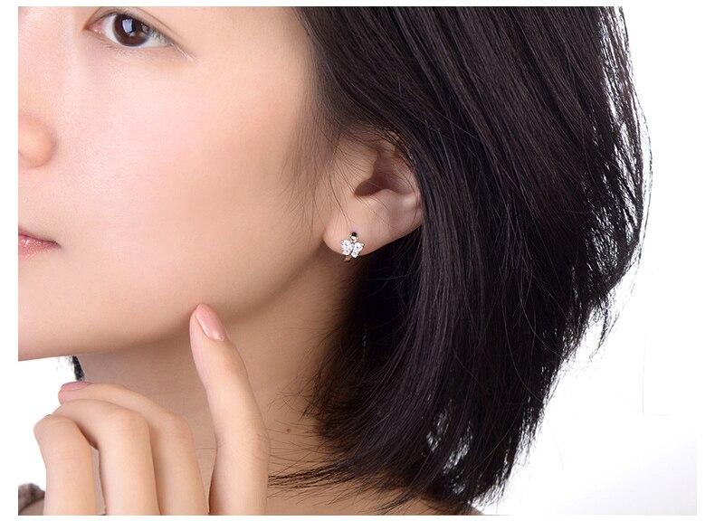 Girls Butterfly Crystal Ear Studs 925 Sterling Silver