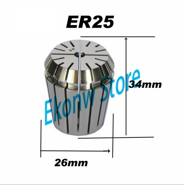 Free Shipping 1PCS 1-16mm ER ER25 Collet Chuck for Spindle Motor Engraving/Grinding/Milling/Boring/Drilling/Tapping