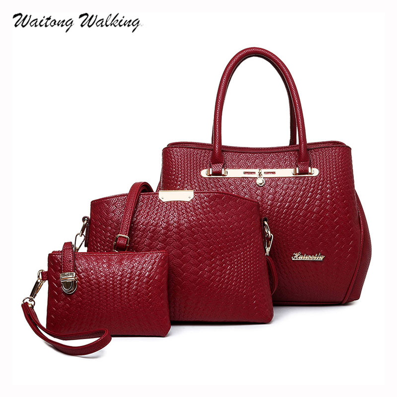 Luxury Handbags Women Bags Designer 2017 Set Composite Bag Messenger Leather Knitting Vintage Shoulder Bag Bolsas Femininas b078 поиск семена горчица ядреная 1 г