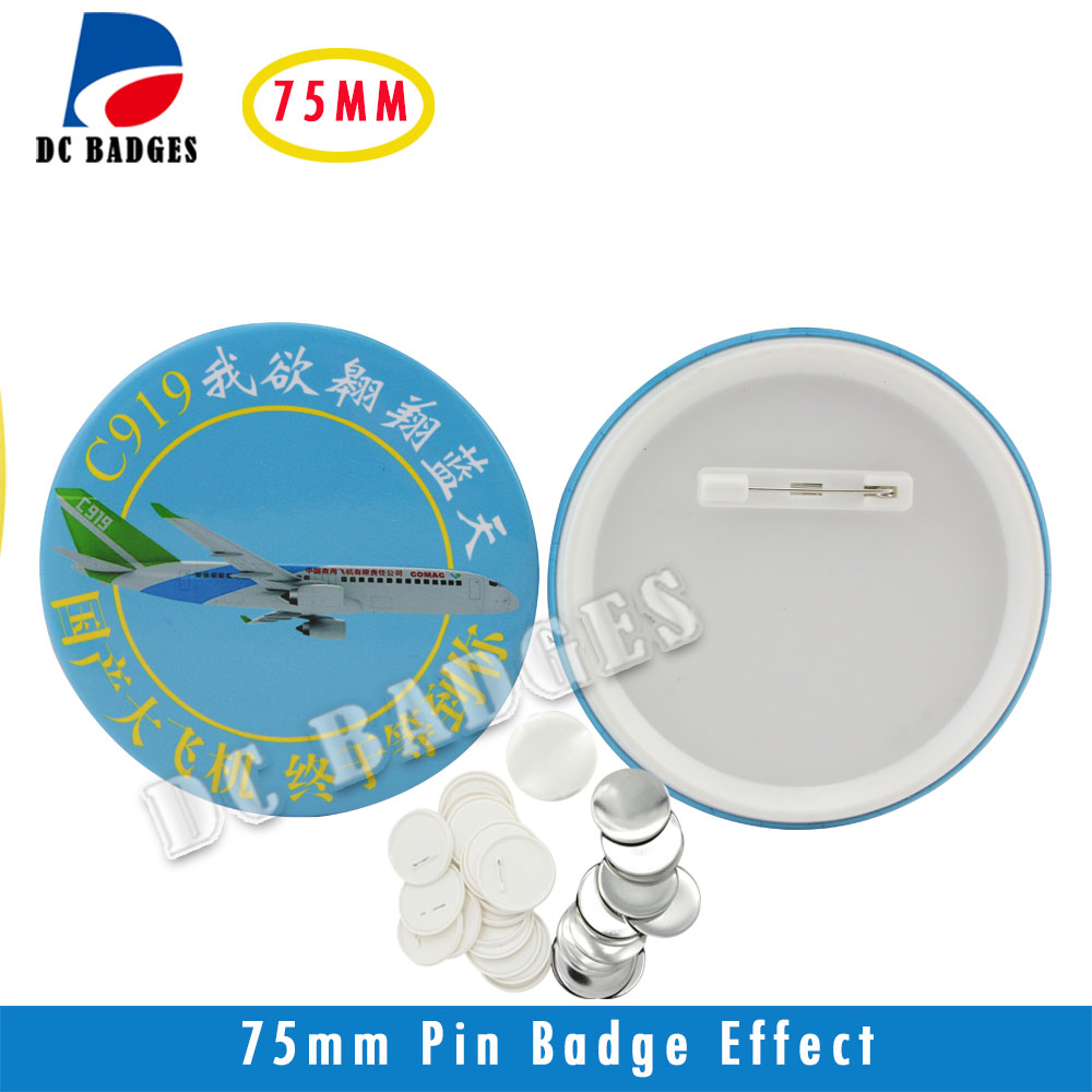NEW Pin button  material of 3(75mm) 500sets  Plastic Pin Badge Material,Blank button  components wholesale тросы и ленты для авто autoprofi стяжка для груза autoprofi bun 10