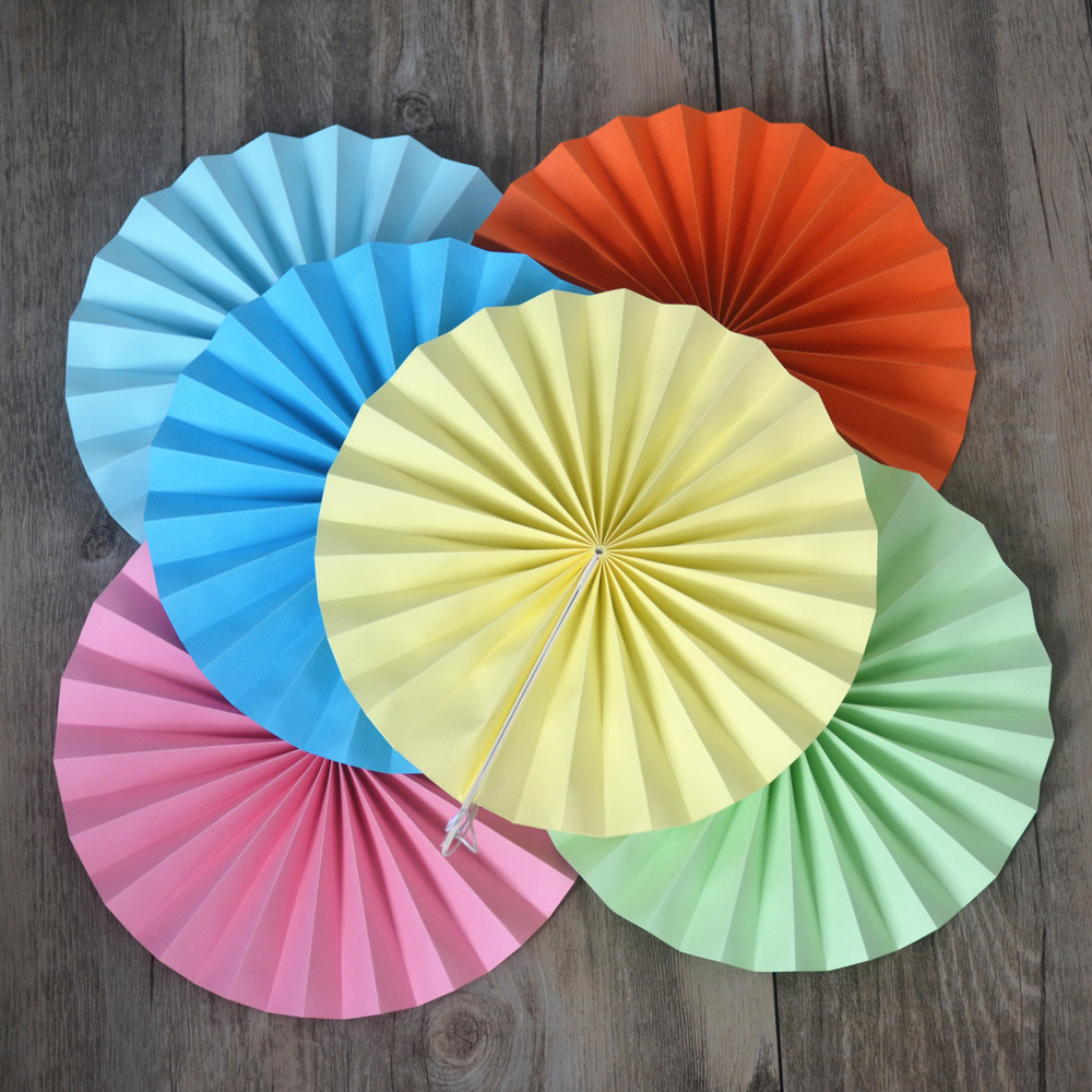 5Pcs Paper Fans Princess Birthday Decor Paper Rosettes Pinwheel