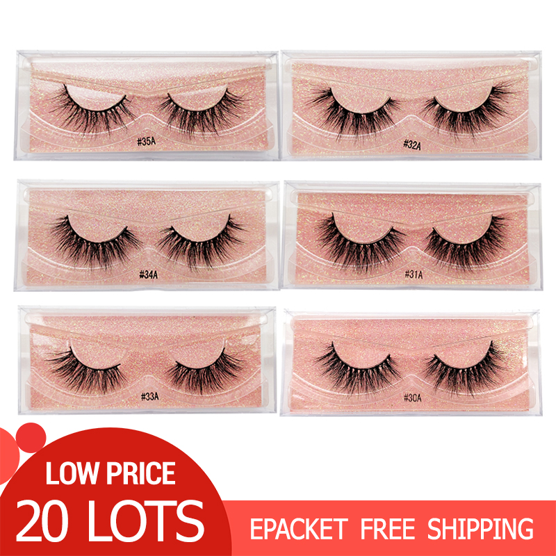 20 คู่ขนตาปลอม Full Mink Eyelashes แต่งหน้าขนตาขายส่ง Mink Lash ขนตา Volume False Lashes maquiagem-ใน ขนตาปลอม จาก ความงามและสุขภาพ บน   1