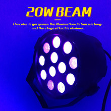 YA Yao LED Stage Light Effect 12x1W Purple Light With DMX512 For Club Disco DJ Sound Activated Disco Ball Stage Light Projector(China)