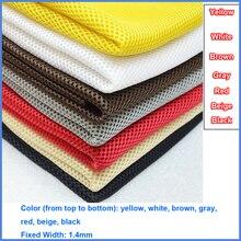 Grigio/Rosso/Bianco/Nero/Beige/Marrone/Giallo Polvere Altoparlante Panno di Griglia Filtro di Tessuto di Maglia altoparlante Panno di Maglia Dustcloth 1.4x0.5m