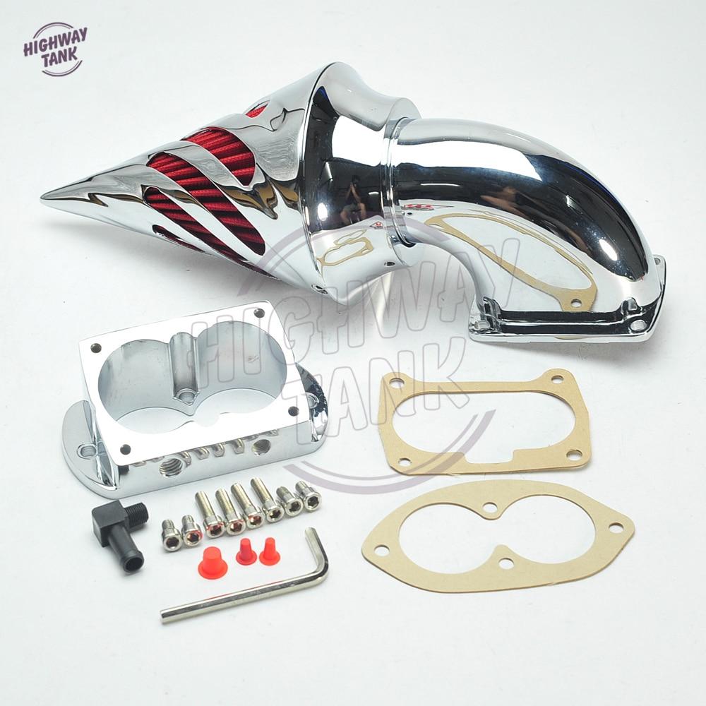 Chrome Aluminum Motorcycle Spike Air Cleaner Kits Intake Filter case for KAWASAKI Vulcan 1500 1600 Mean Streak chrome spike air cleaner kits intake filter case for honda vtx 1800 2002 2009