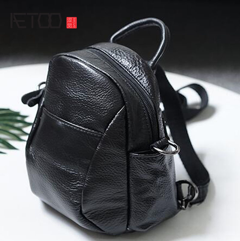 AETOO 2017 summer new Korean ladies genuine leather shoulder bag women fashion casual small backpack women