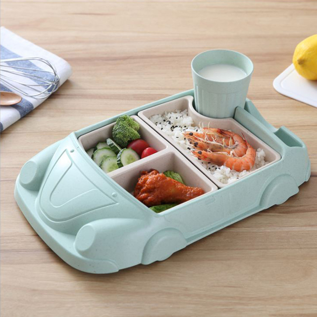 Creative Car Shaped Eco-Friendly Bamboo Lunch Box