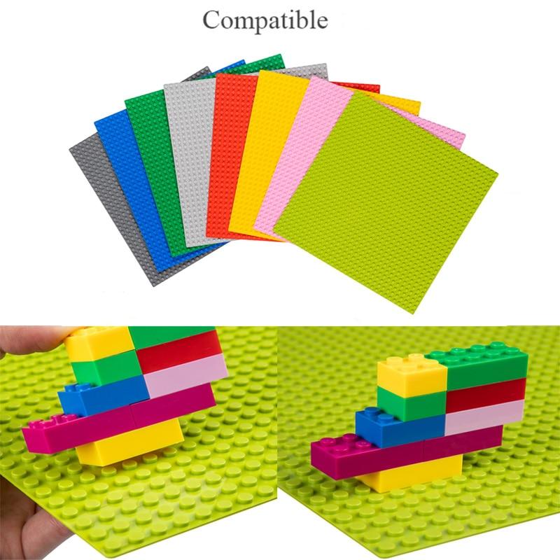 TUKATO Classic 32*32 Base Plates Plastic Bricks Compatible Legoe Construction Building Blocks BasePlate Board Construction Toys