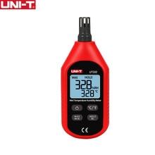 UNI T UT333 Mini Temperatura Umidade Medidor Higrômetro Indoor Outdoor Indicação de Sobrecarga de Conversão de Unidade De Backlight LCD hygromet