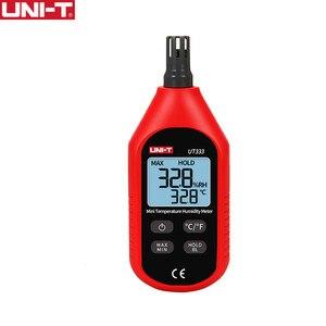 Image 1 - UNI T UT333 Mini Temperature Humidity Meter Indoor Outdoor Hygrometer Overload Indication Unit Conversion LCD Backlight hygromet