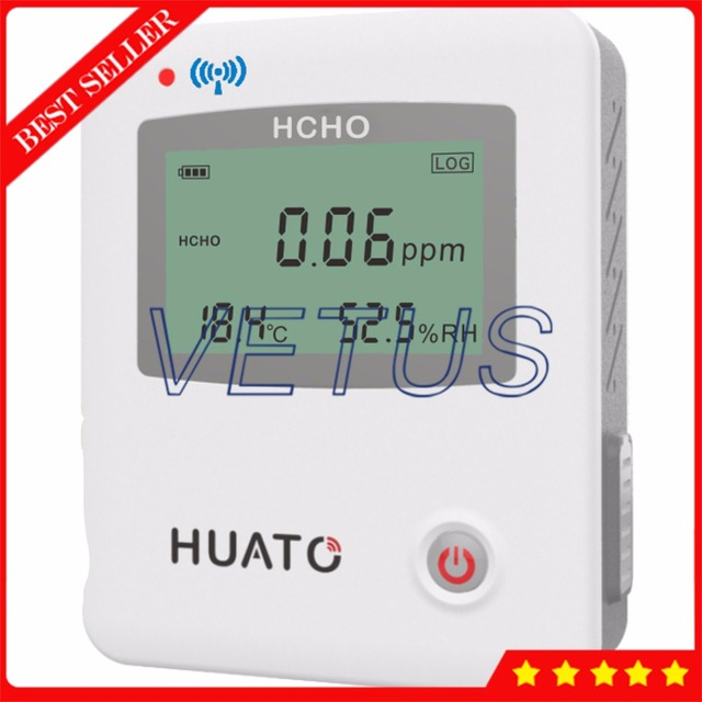 S654 Handheld Digital CH2O Tester 3 in 1 USB Formaldehyde Detector with 0~10PPM Meter Temperature Humidity Data Logger recorder