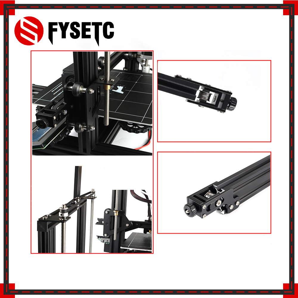 1 Set Aluminum Profile Complete X axis Y axis Dual Z axi Synchronous Belt Stretch Tensioner