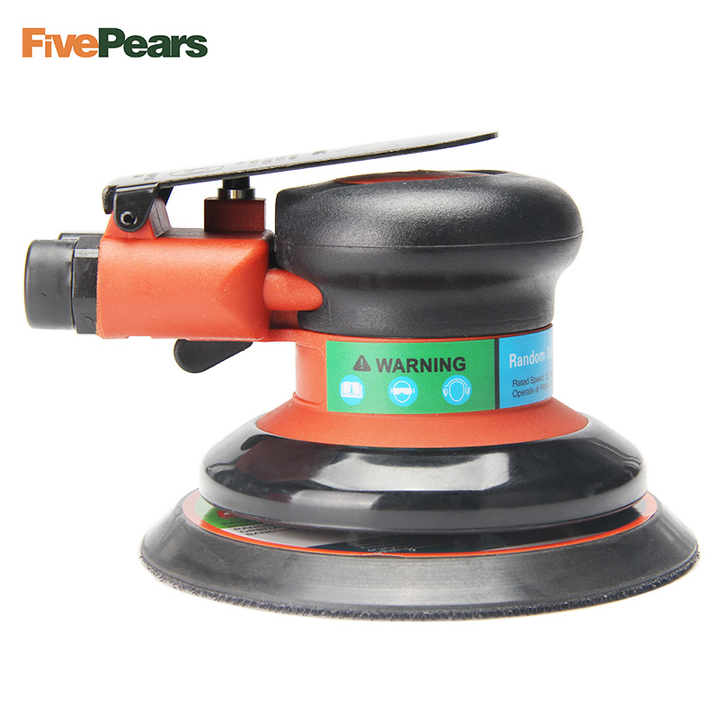 Air Random Orbital Palm Sander Polisher for 5inch 125mm Pad Pneumatic Power Tool Free Shipping FivePears swingable pneumatic eccentric grinding machine 125mm pneumatic sander 5 inch disc type pneumatic polishing machine