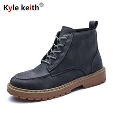 Kyle Keith Brand Mens Leather Shoes Waterproof Men Boots Comfortable Pu Leather Boots Quality Autumn Ankle Boots Online Sale