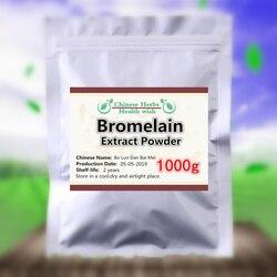 Whitening Huid, 1000g 100% Natuurlijke Bromelaïne Poeder, Ananas Extract Poeder, Remmen Tumor Celgroei, bo Luo dan Bai Mei