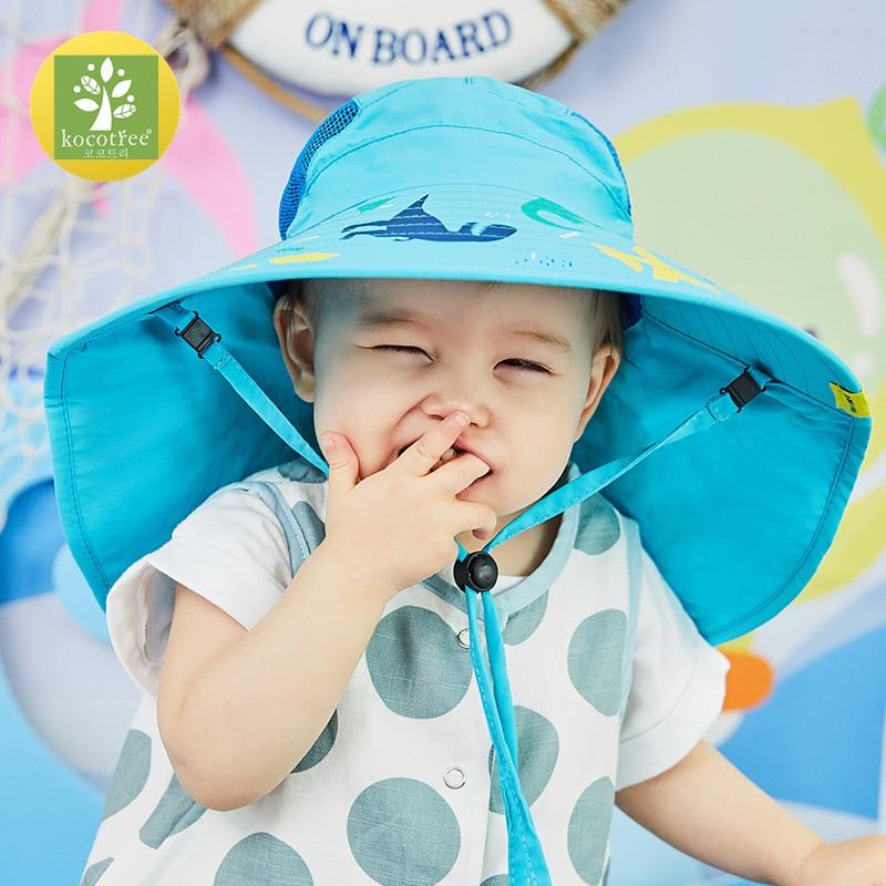 Image 3 - Kocotree Wide Brim Children Sun Hat  Kids Bucket Cap Summer Beach Girls Travel Outdoor New Fashion Cute Casual Sun HatsMens Sun Hats   -