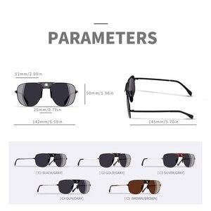 Image 4 - AOFLY, фирменный дизайн, модные поляризованные солнцезащитные очки, мужские очки для вождения, винтажные, золотые, оправа пилот, панк, солнцезащитные очки, мужские oculos de sol