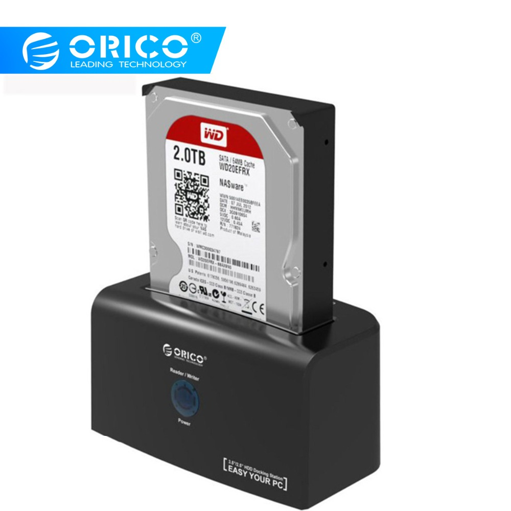 ORICO HDD Docking Station ESATA & USB 3.0 Hard Drive Docking For 2.5 / 3.5 Inch HDD 12V2.5A Power Adapter 8TB Support