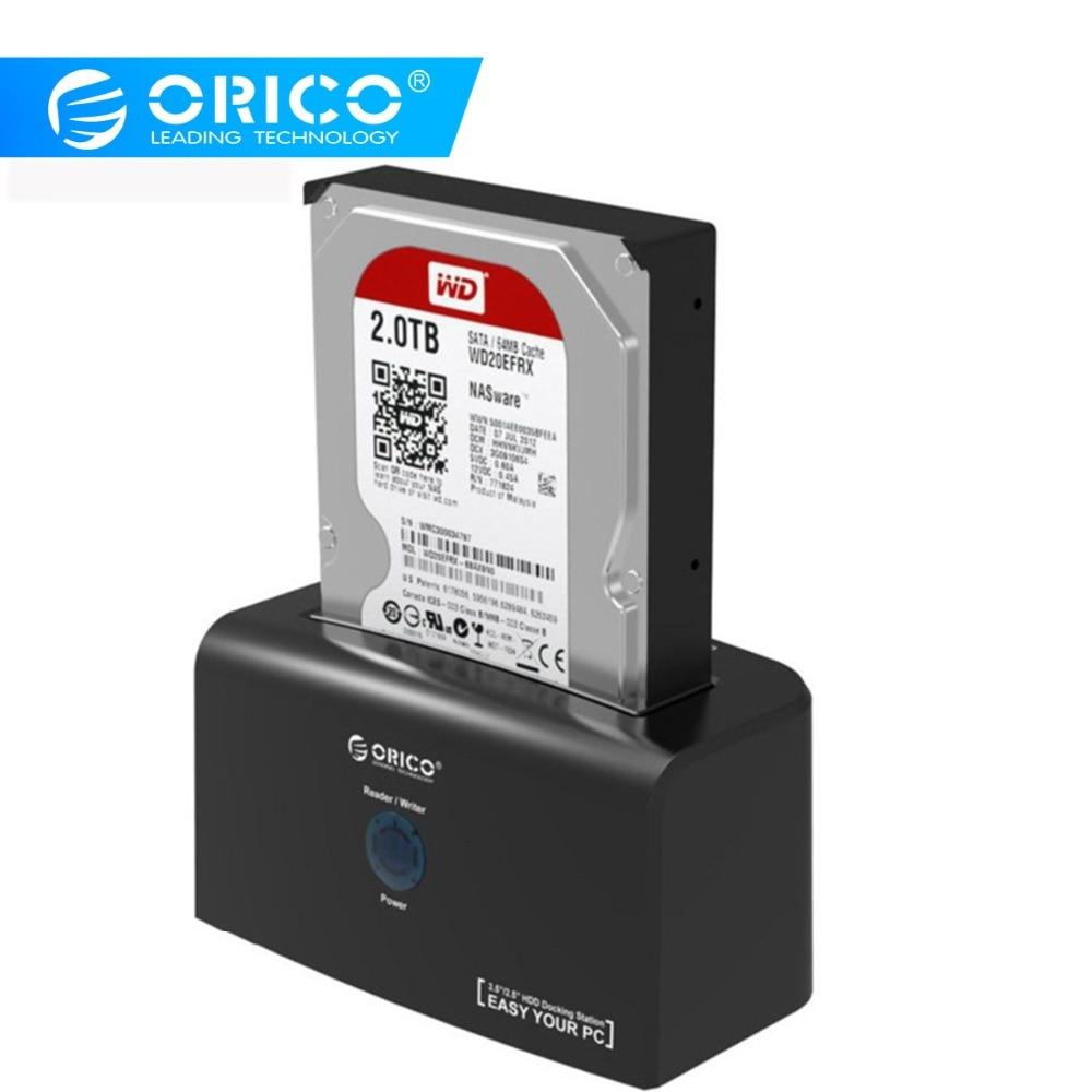 Station d'accueil ORICO HDD Station d'accueil eSATA & USB 3.0 pour disque dur 2.5/3.5 pouces HDD 12V2. 5A adaptateur secteur 8 to Support