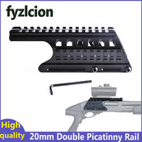 Fyzlcion Hunting Gun Accessories 20mm Double Picatinny Rail Mount System For Picatinny Rail Saddle Scope Mount