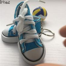 e7c99b98c1fb0a Iftec 1pairs Right And Left Leg Sport Shoes Keyring Mini 3d Sneaker  Keychain Canvas Shoes Key
