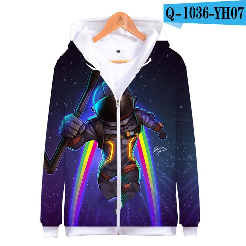 3D Hoodie Fortnight Zipper Hooded Sweatshirt Fortnited Women Clothes Men Fortnight Children Clothing Fortnight Streetwear Funny Price $21.98