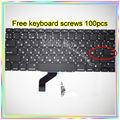 """Las Novedades Para El MacBook Pro Retina 13.3 """"A1425 teclado Ruso 100 unids teclado Pequeño Entrar RS tornillos 2012 año"""