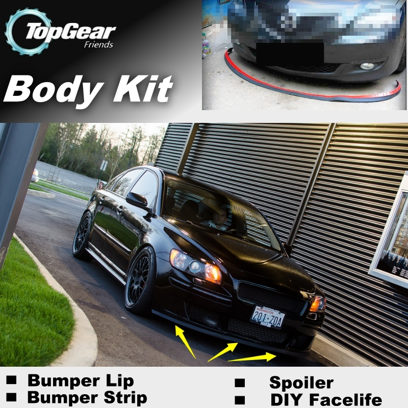 front bumper volvo s60 2007 body kit - Bumper Lip Deflector Lips For Volvo S40 S40L Front Spoiler Skirt For TG Friends to Car Tuning View / Body Kit / Strip