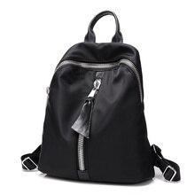 Высокое качество черный bakcpack для женщин нейлон леди рюкзаки женщины сумку mochila эсколар feminina девушки путешествия рюкзак рюкзак 2017