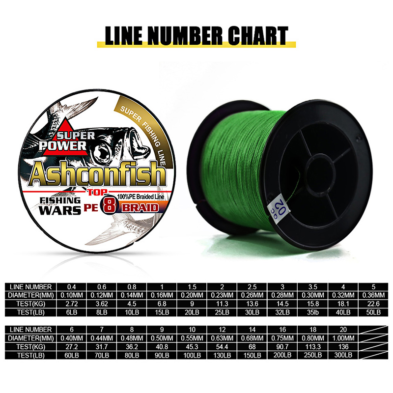 Image 3 - braided line 8 Strands 500M 1000M super pe ice sea fishing 8 300LB spectra green grey blue multi color Multifilament 0.12 1.0mm-in Fishing Lines from Sports & Entertainment