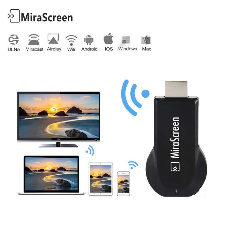 Mirescreen HDMI Media Video Streamer TV Stick 1080P HD Wi-Fi Display dongle DLNA Airplay Miracast for pc smart tv vs chromecast