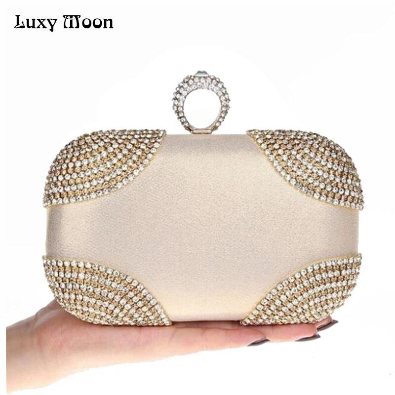 2017 Knuckle Rings Clutch Women Gold Diamond Evening Bag Crystal Purse Party Wedding Clutches Nigh Club Handbag Ladies Totes недорго, оригинальная цена