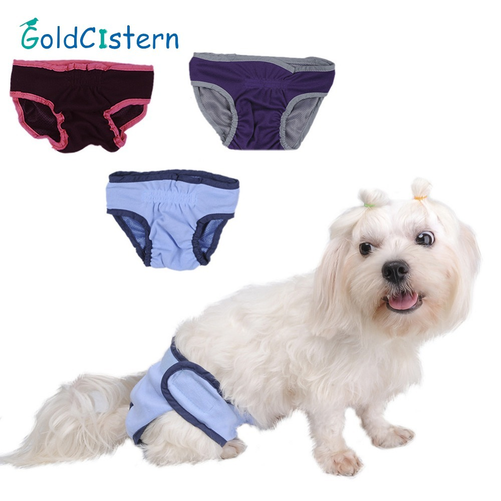 Pet <font><b>Dog</b></font> Cat Physiological Shorts Doggy Kitten Underwear <font><b>Pants</b></font> Diapers Small <font><b>Female</b></font> <font><b>Dog</b></font> Sanitary Briefs For Puppy Kitty S-XL size image