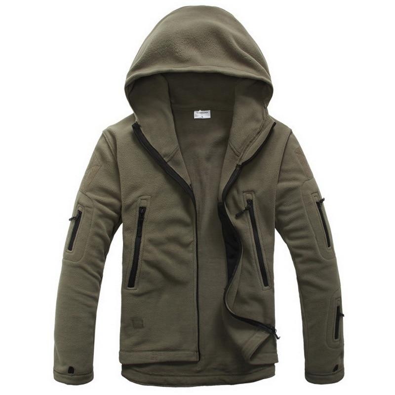 Chaqueta de paño grueso y suave militar Softshell Fleece con capucha - Ropa de hombre - foto 4