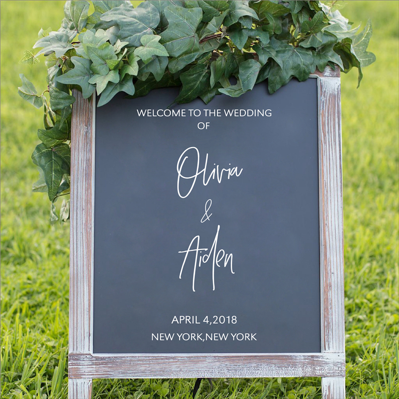 Personalized Welcome Wedding Sign