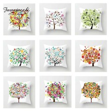 Fuwatacchi Multi-Color Tree Cushion Cover White   Soft Throw Pillow Cover Decorative Sofa Pillow Case Pillowcase цены