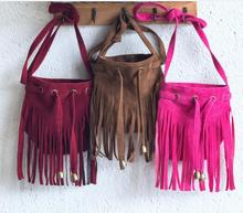 купить Women's Fashion Fringe Tassel Handbag Messenger Cross Body Satchel Shoulder Bag дешево
