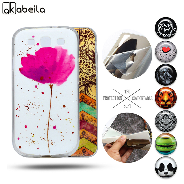AKABEILA Phone Case for Samsung I9300 Galaxy S3 I9305 I9308 I747 T999 GT-I9300 S3 Neo Case Soft TPU Silicone Mobile Cover