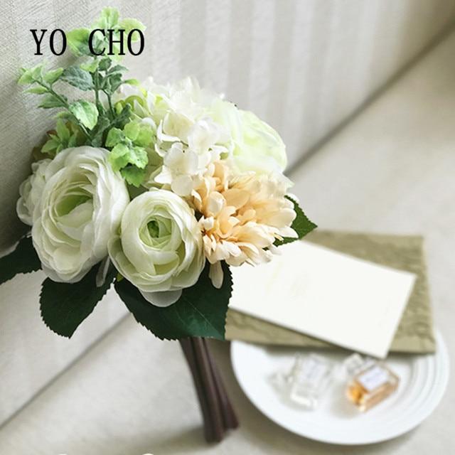 YO CHO Mint Green Flowers Peony Wedding Flowers Party Bridesmaid ...